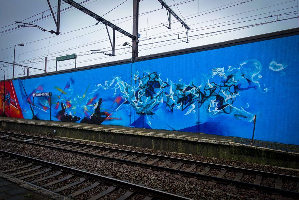 graffiti am bahnhof berchem /antwerpen