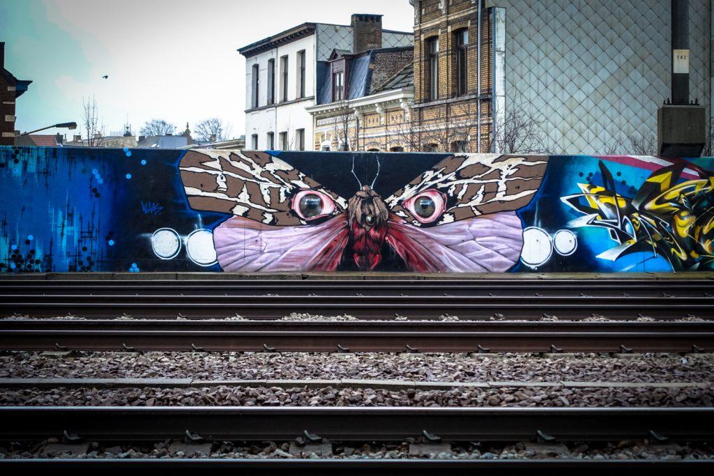 graffiti - klaas van der linden - antwerpen/berchem station