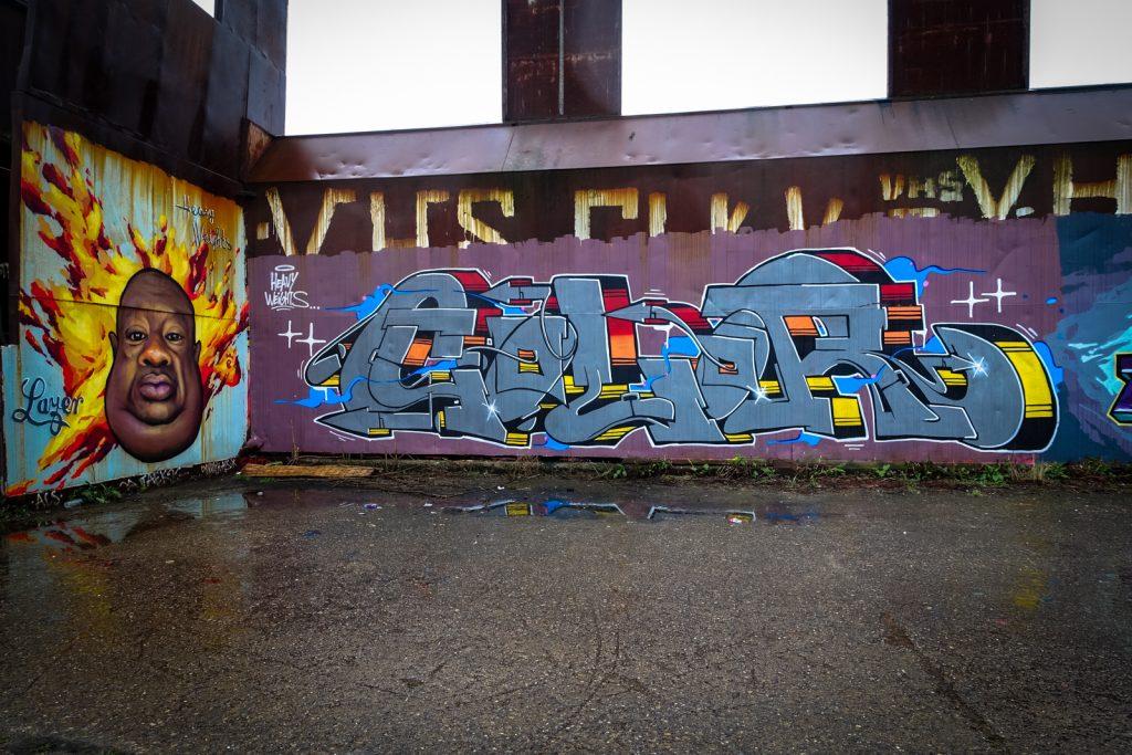 graffiti - color, lazer / heavy weights - petrol, antwerpen