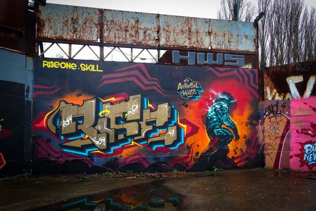 graffiti - riseone, skill / aerosol kings - petrol, antwerpen