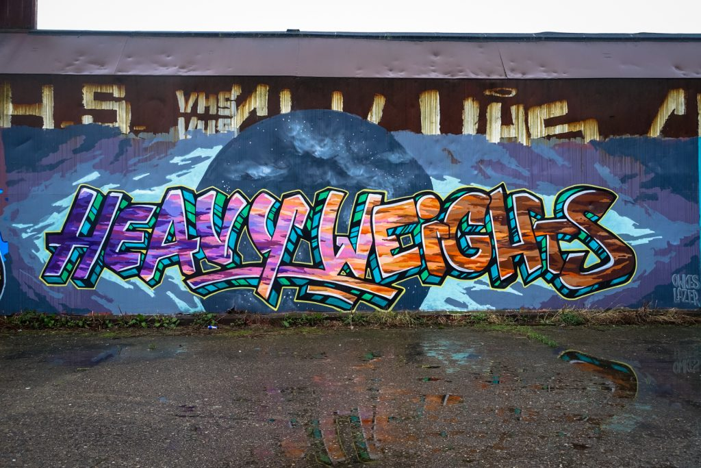 graffiti - owkes, lazer / heavy weights - petrol, antwerpen