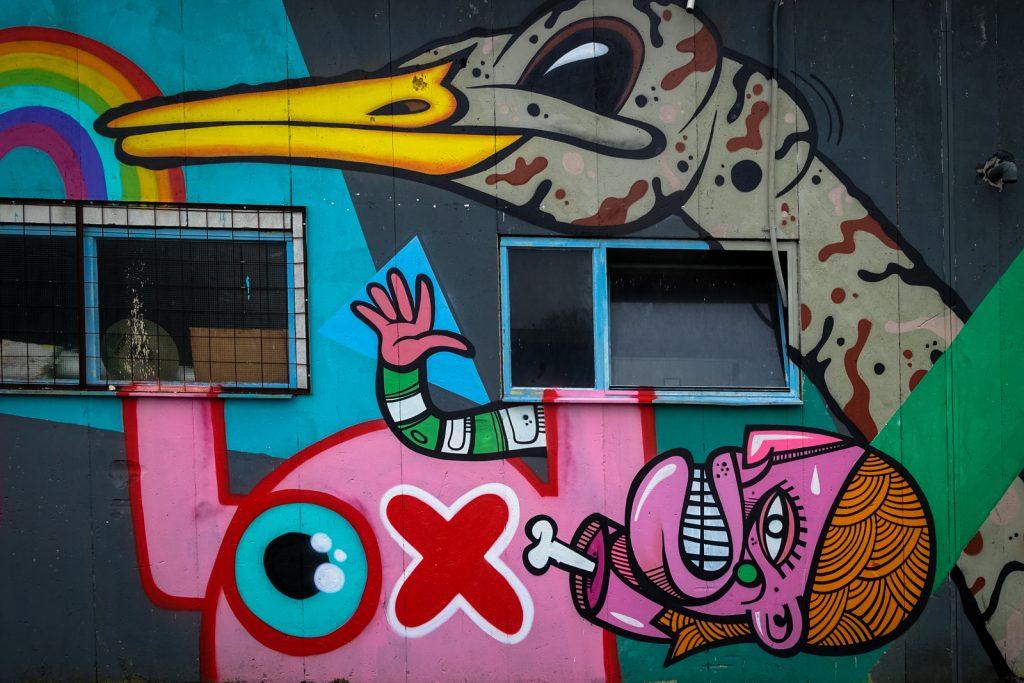graffiti - joachim,  ox alien - petrol, antwerpen