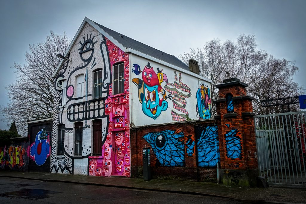 graffiti - joachim, gijs vanhee, ox alien, bue the warrior - mee