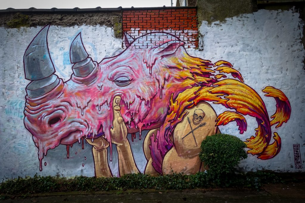 mural - a squid called sebastian - gent