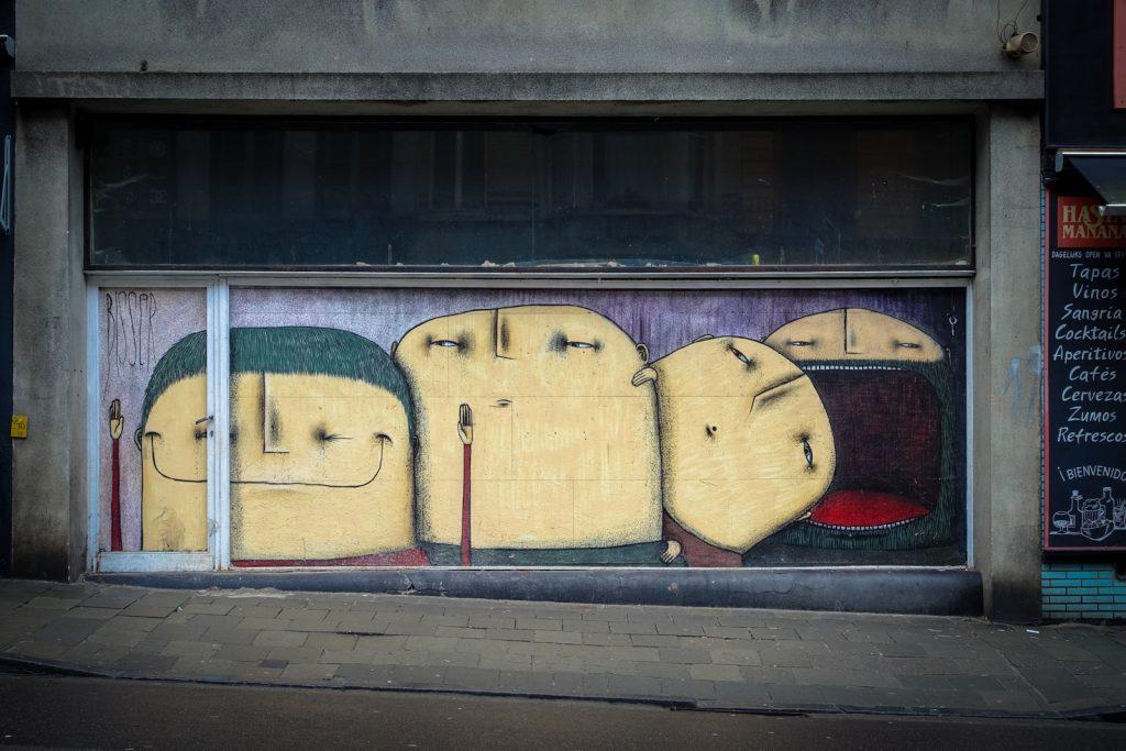 streetart - bisser - lammerstraat, gent