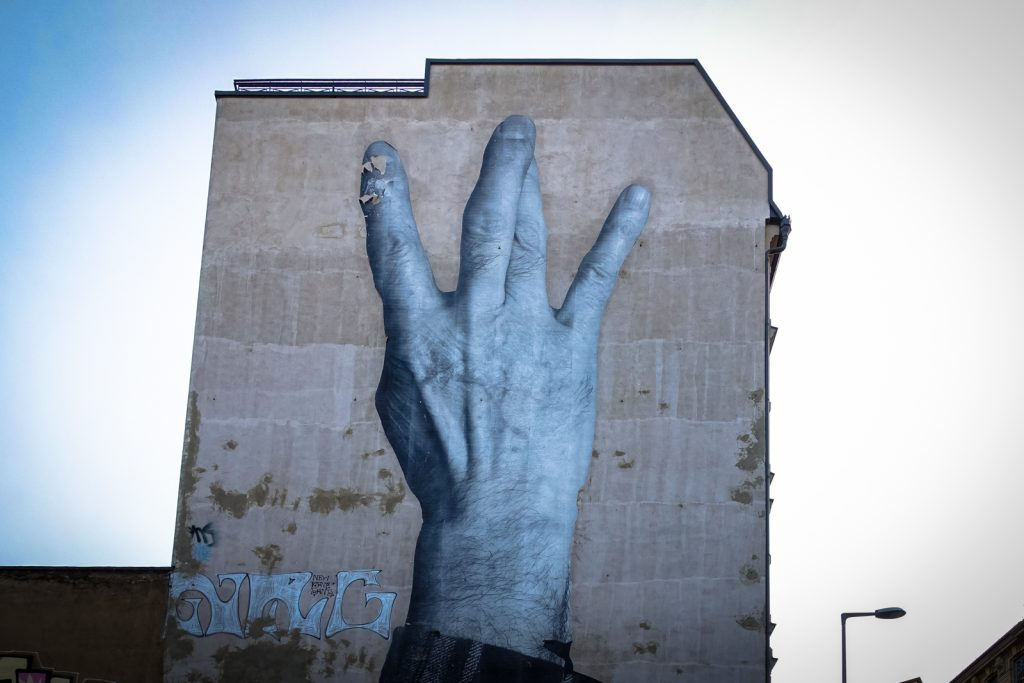 "streetart - jr ""wrinkles of the city"" - berlin"