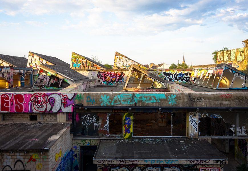 urbex graffiti im alten schlachthof, bonn / mai 2016