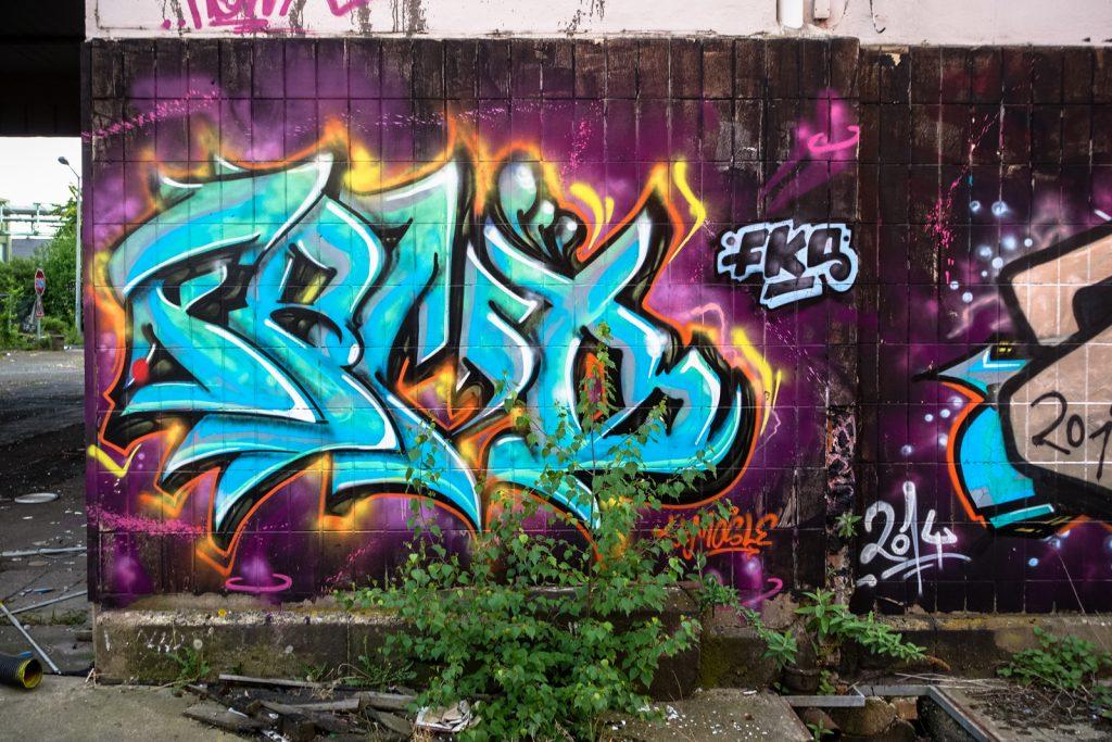 urbex graffiti - fks - schlachthof, bonn