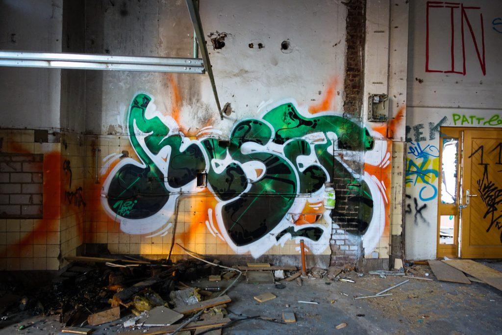 urbex graffiti - reset, henni - schlachthof, bonn