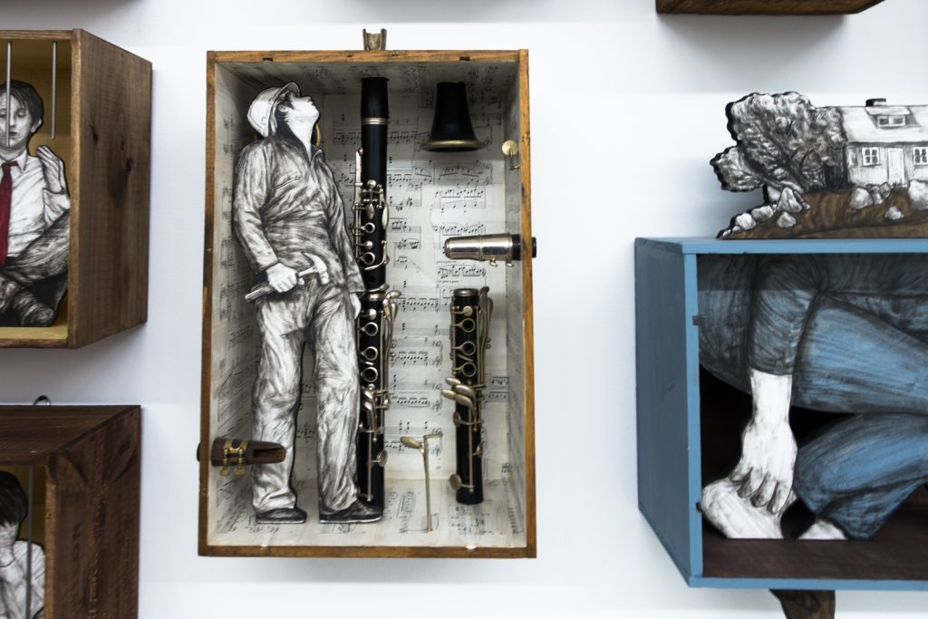 "levalet exhibition ""little boxes""- open walls gallery, berlin"