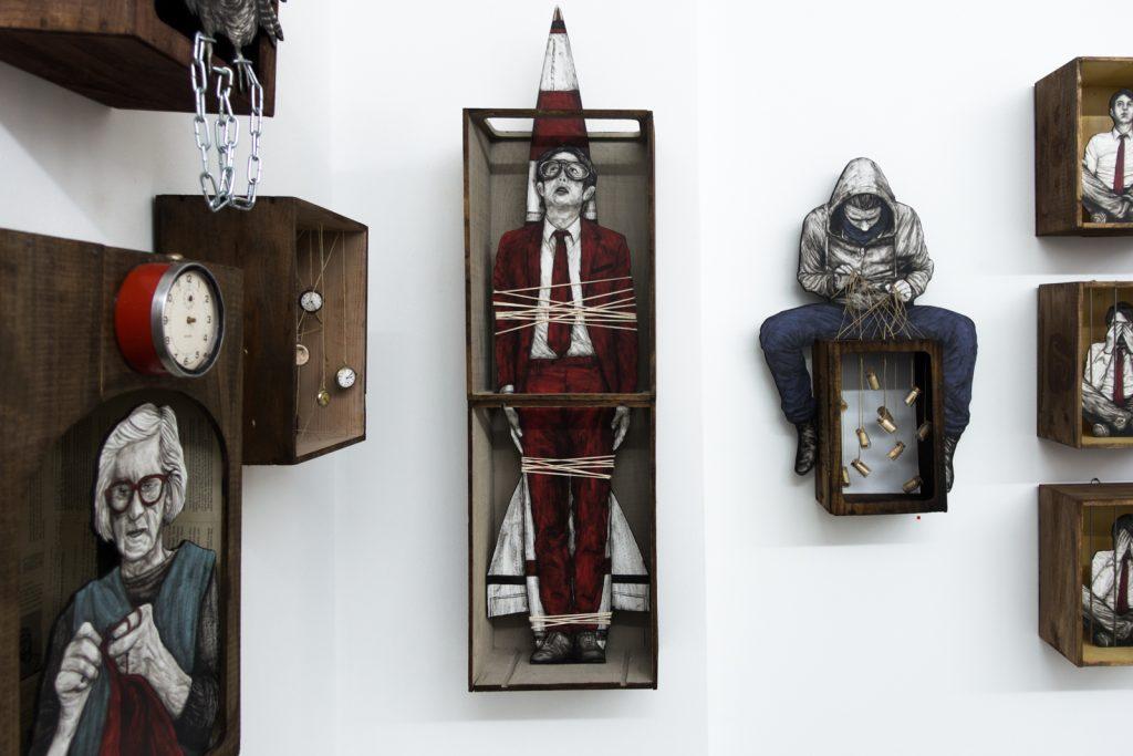 "levalet exhibition ""little boxes""- open walls gallery, berlin"