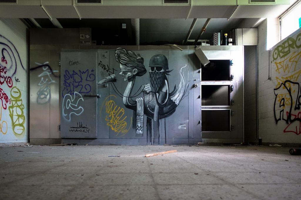 urbex art- malakki & mankey - anatomy institute - berlin, dahlem