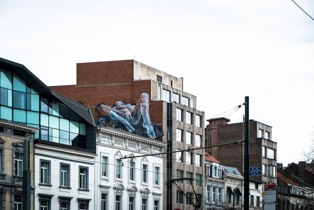 """explicite murals """"woman masturbating""""- bonom - brussels"""