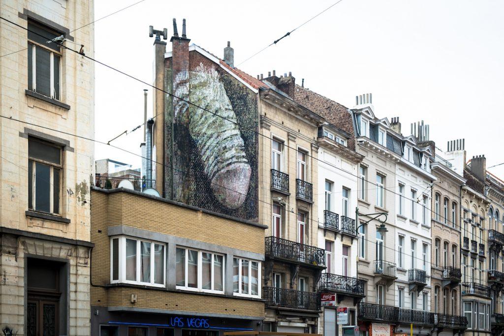 """explicite murals """"penis"""" - bonom - brussels"""