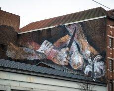 """explicite murals """"slaughter"""" - bonom - brussels"""