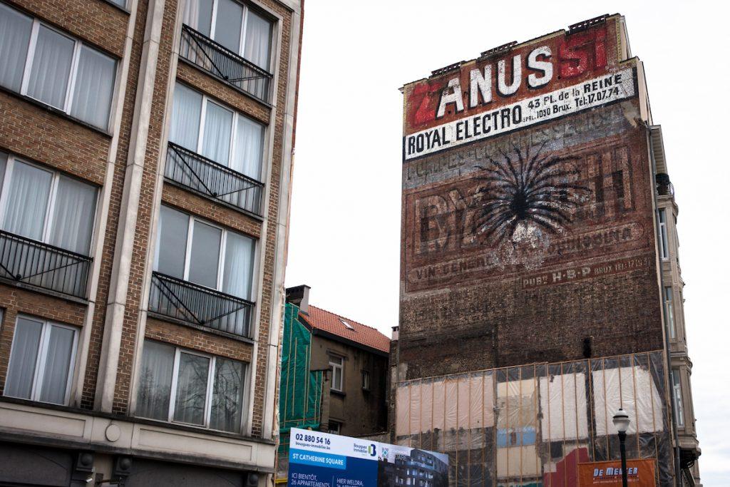 """explicite murals """"anus"""" - bonom - brussels"""
