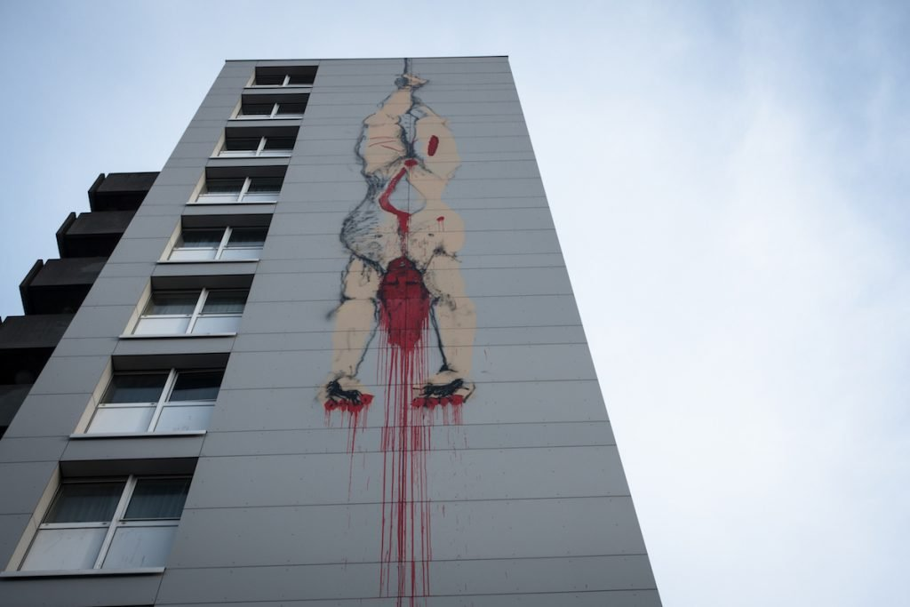 "explicite murals ""guted body"" - bonom - brussels"
