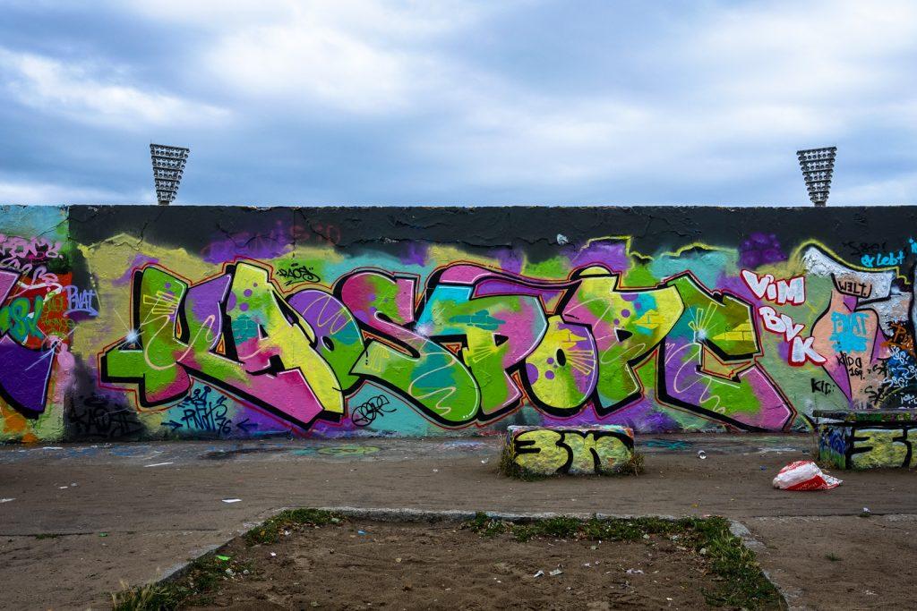 graffiti - kaospope - legal wall,  mauerpark, berlin
