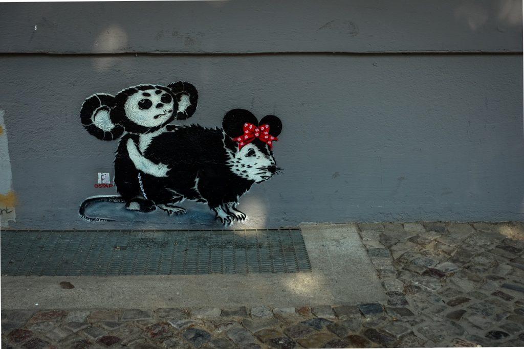 stencil - ostap - berlin, kastanienallee