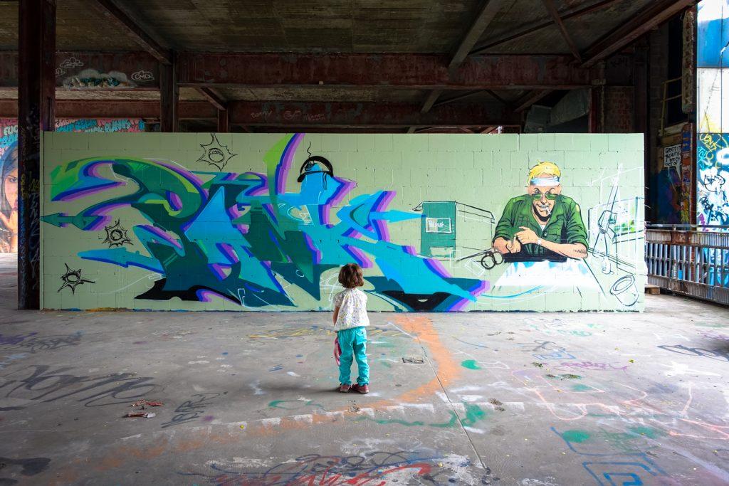 graffiti - berlin, abhörstation teufelsberg