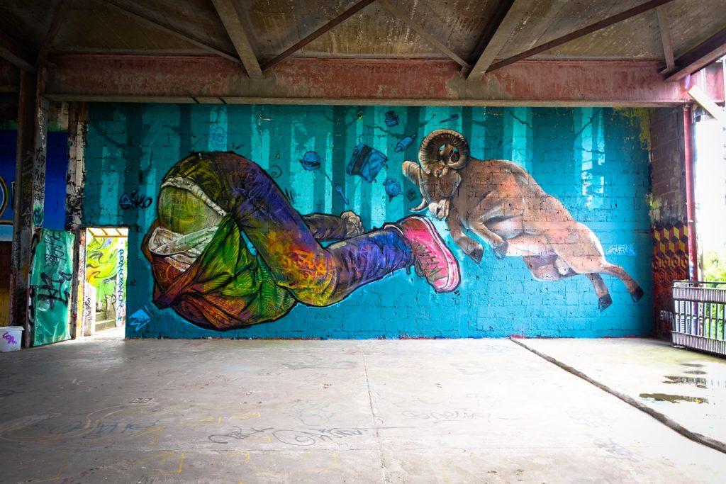 mural - biko & mack - berlin, abhörstation teufelsberg