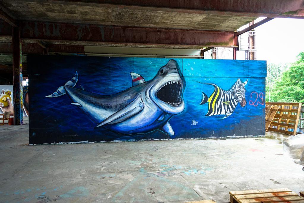 mural - thieu design  - berlin, abhörstation teufelsberg