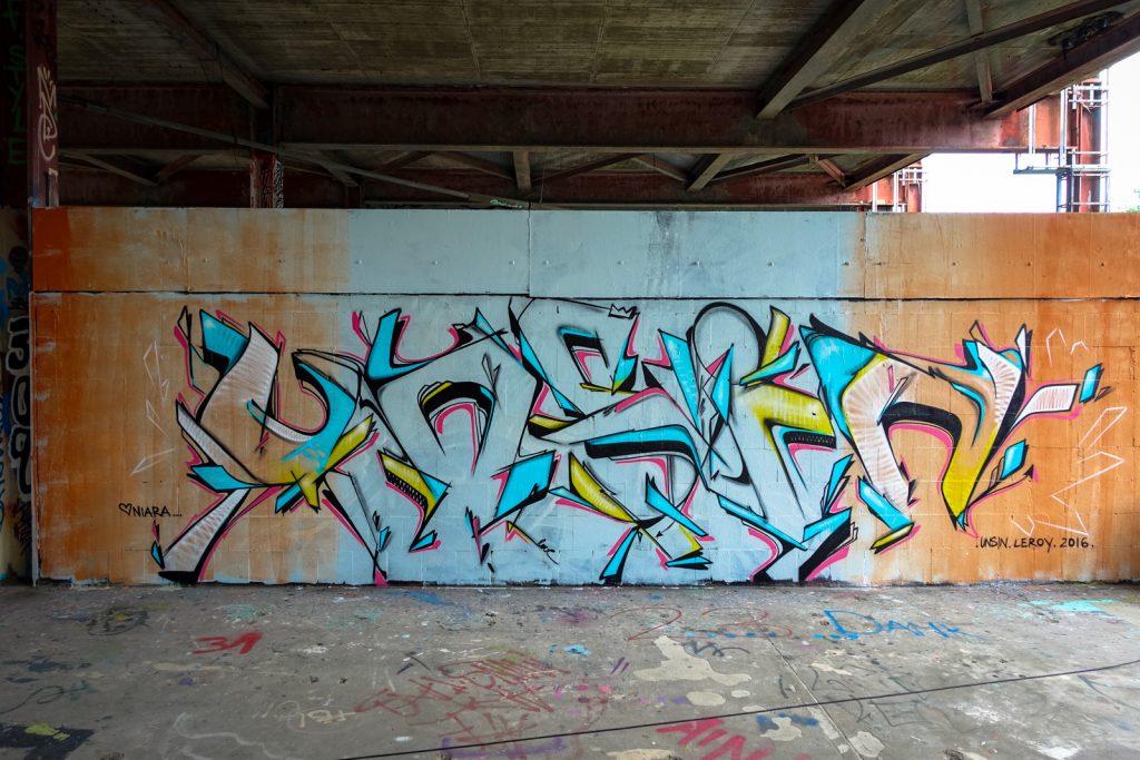 graffiti - unsin - berlin, abhörstation teufelsberg