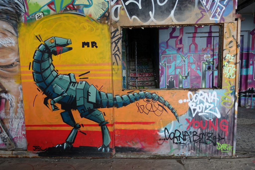 graffiti - jask - berlin, abhörstation teufelsberg