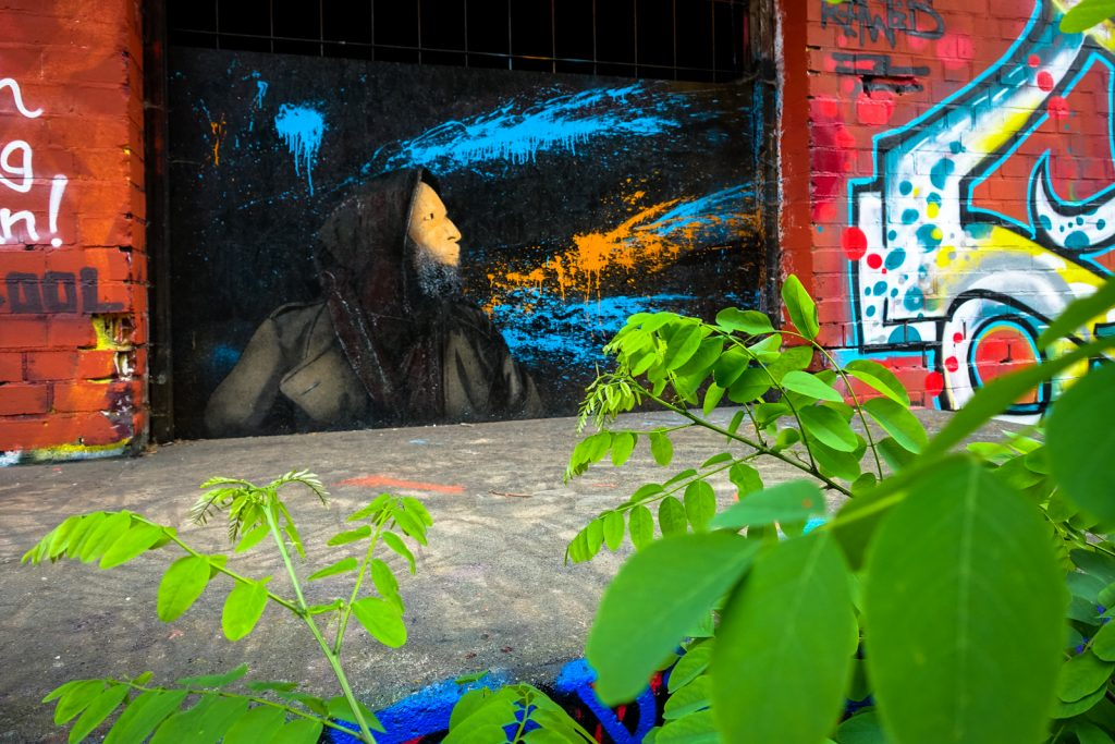 graffiti - moe -  berlin, abhörstation teufelsberg