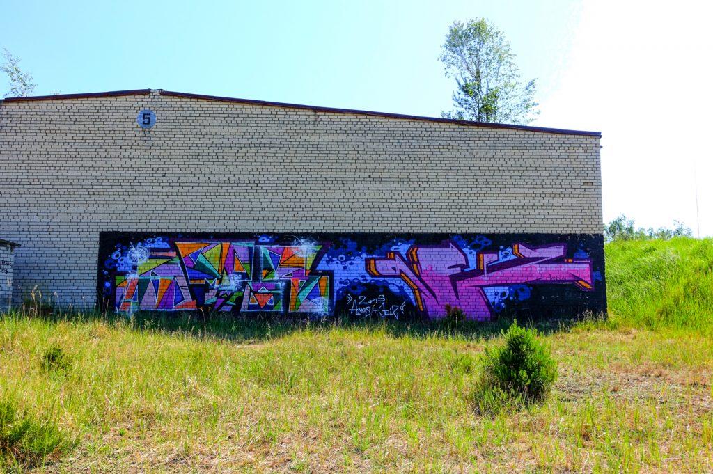 urbex graffiti - amos & geiz - ghostcity vogelsang