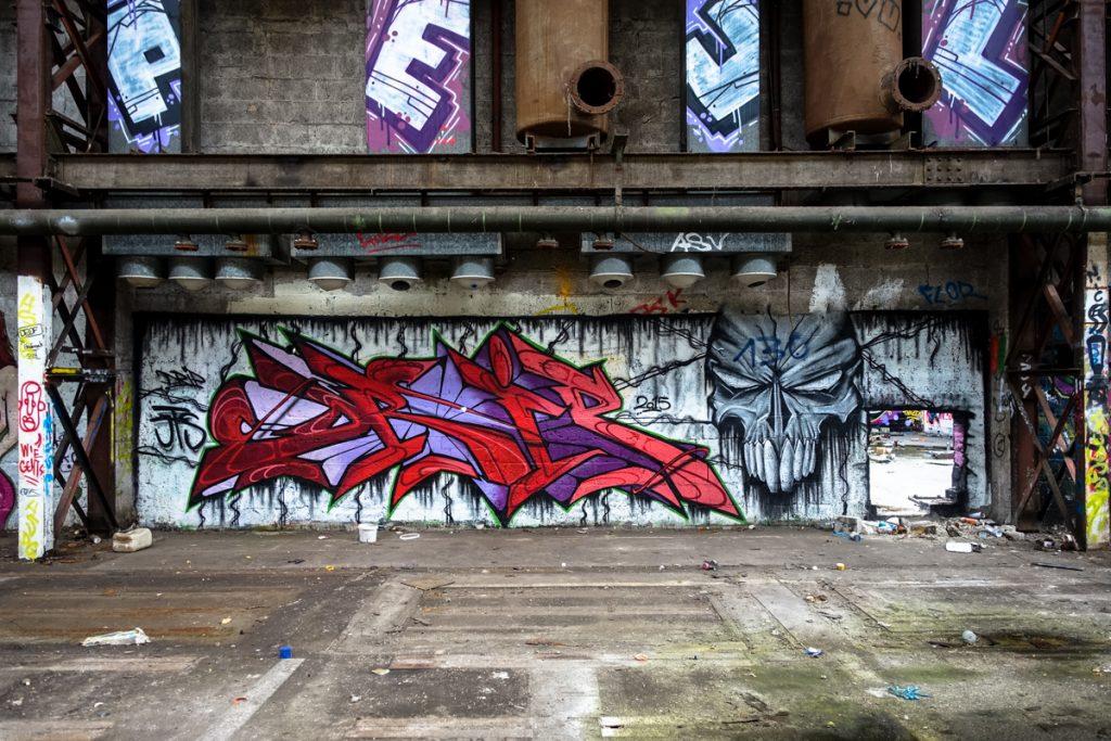 urbexgraffiti -drip - deutz ag industrieruine, köln mülheim
