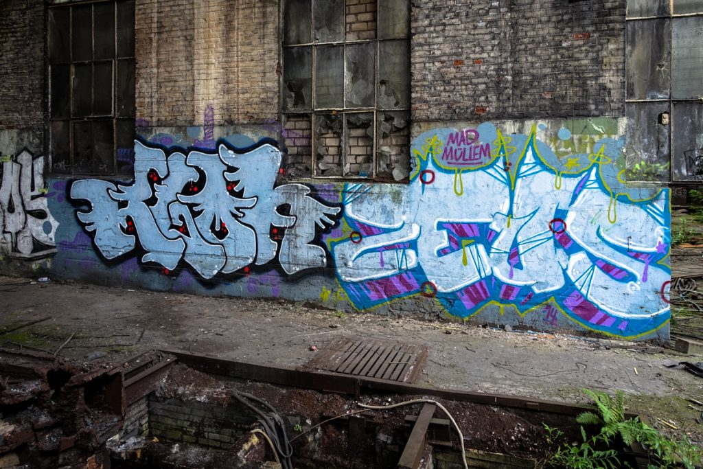 urbexgraffiti - zeus, klon - deutz ag industrieruine, köln mül