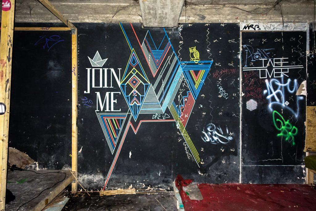 tape art - tape over - brunnen70,  berlin