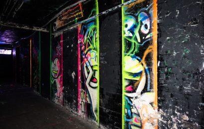 streetart im geschlossenen brunnen70, berlin