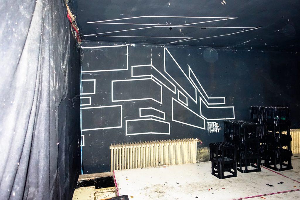 tape art - tape that - brunnen70,  berlin