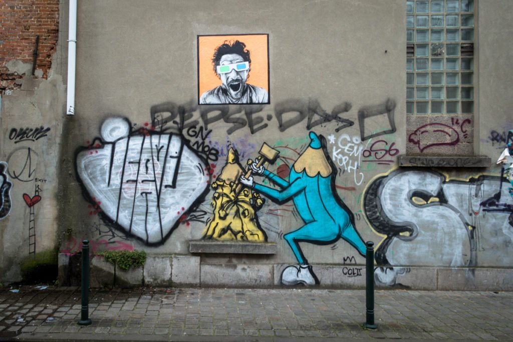 graffiti - créons  - around mima, brussels