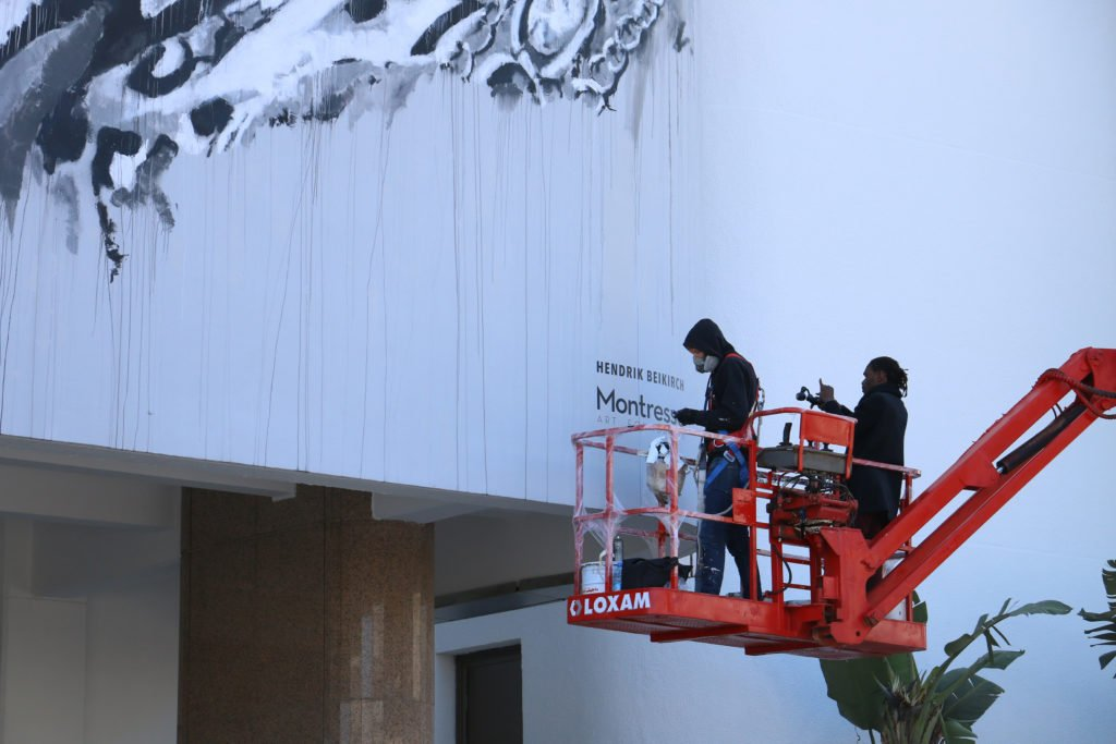 """hendrik beikirch - mural for """"tracing morocco""""-project - rabat"""