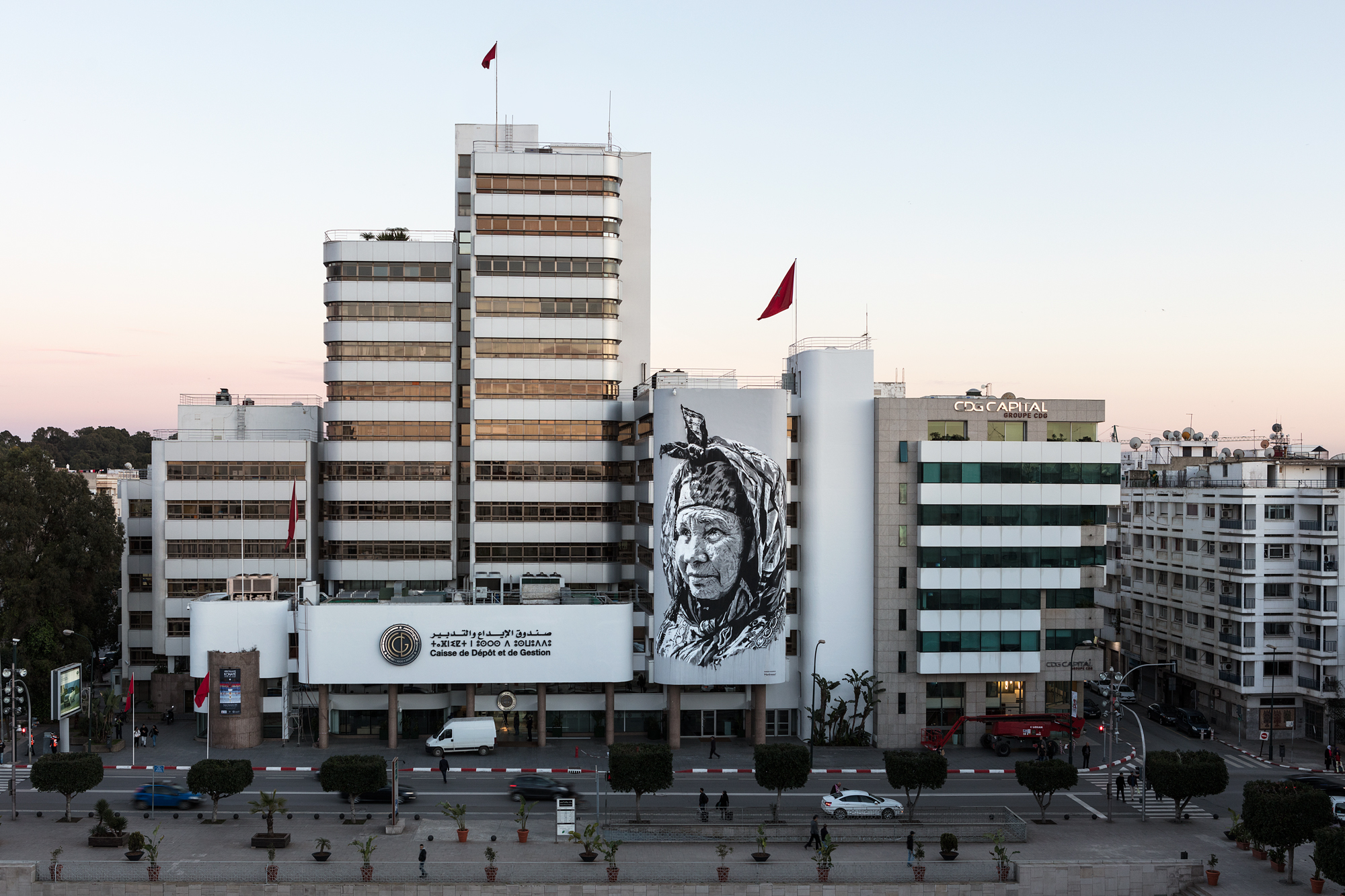 "Hendrik Beikirch - ""Najma"" mural for ""tracing morocco""-project - rabat"