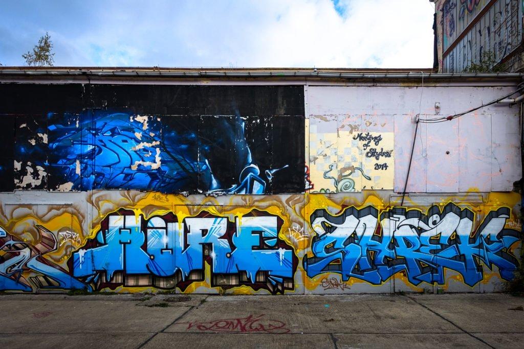graffiti - hure, schrek - aerosol-arena, magdeburg