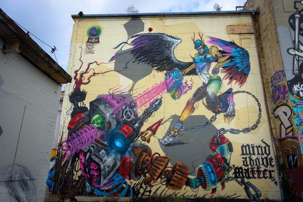 graffiti - brain paint circle - aerosol-arena, magdeburg