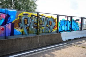 graffiti - peilo - rheinbrücke leverkusen