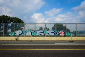 graffiti - pigs - rheinbrücke leverkusen