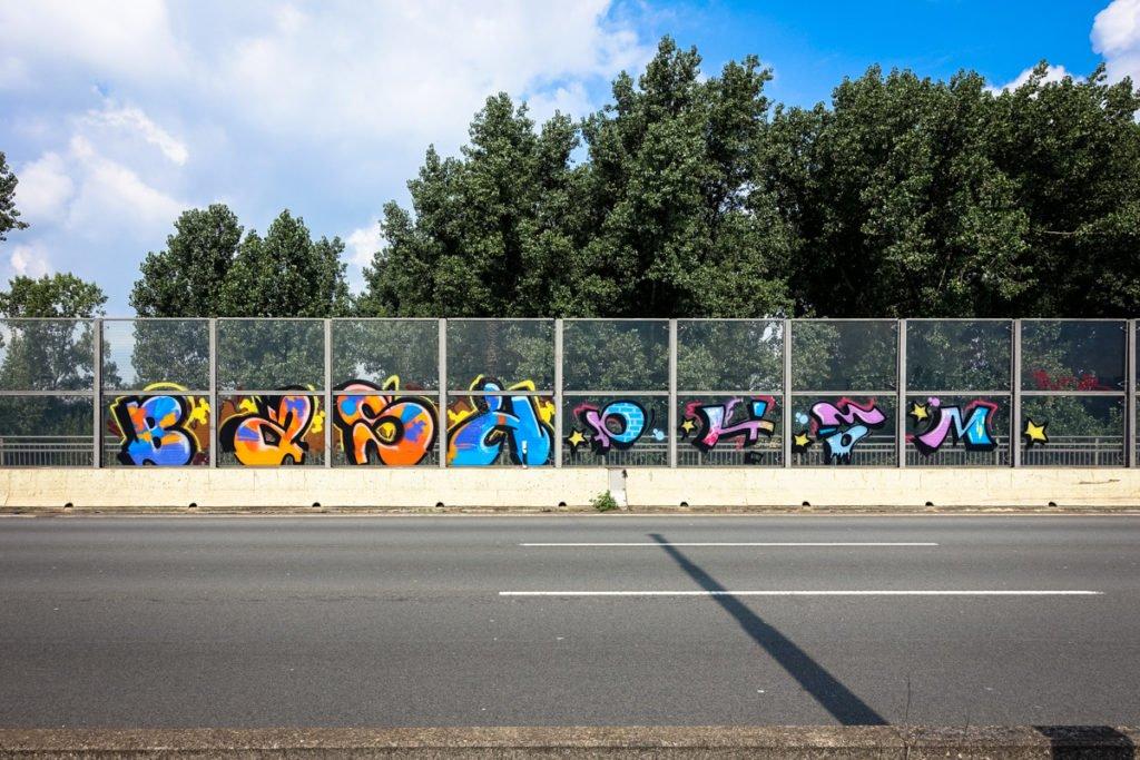 graffiti - bash - rheinbrücke leverkusen