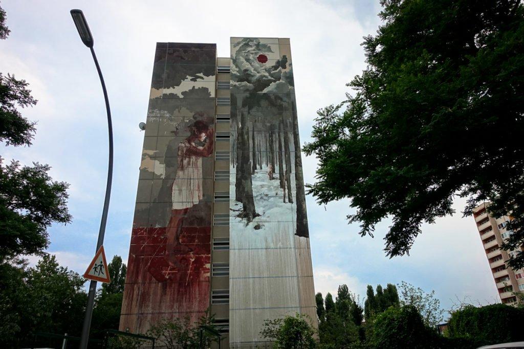 mural for one wall - borondo - berlin-tegel