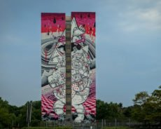 """""""one wall"""" murals in berlin-tegel"""