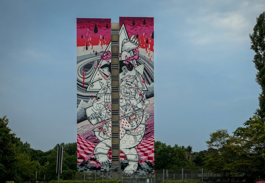 """one wall"" murals in berlin-tegel"