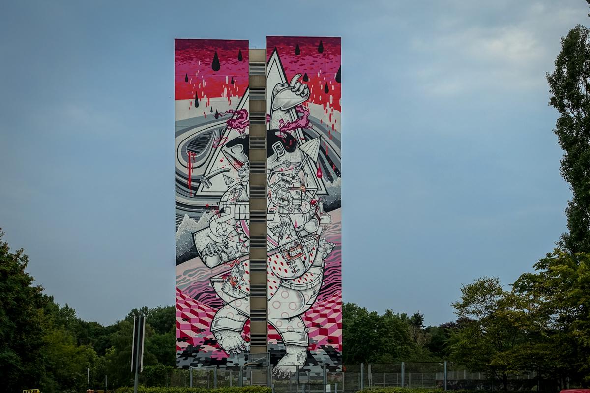Quot One Wall Quot Murals In Berlin Tegel Urbanpresents