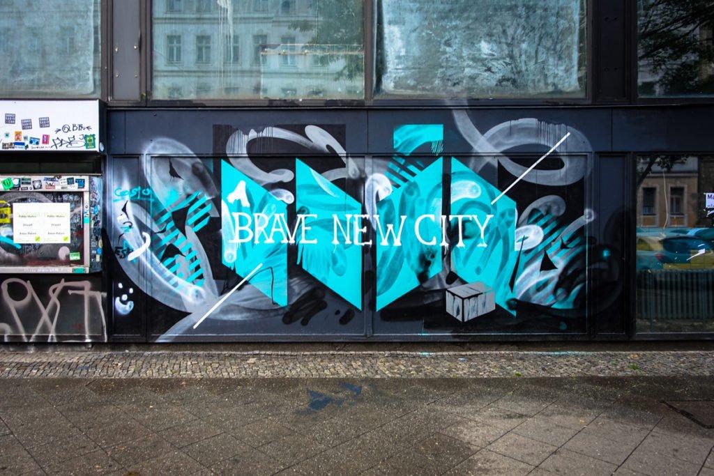 "street art - blo ""brave new city""- stattbad wedding, berlin"