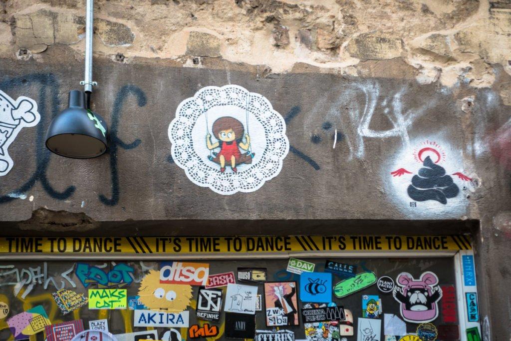 urban art - el bocho, ostap -  haus schwarzenberg, berlin