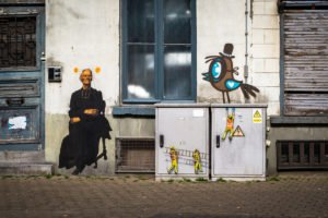 paste up - outings project, jaune, bue - the crystal ship, ooste